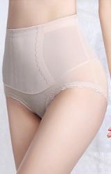 กางเกงกระชับหน้าท้อง ด้านบนเนื้อผ้าลื่น ใส่ประมาณคลุมสะดือ