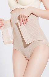 กางเกงกระชับหน้าท้องแบบเอวสูง แบบตะขอล็อคเอวเล็ก เปิดด้านหลังได้