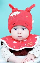 เซ็ตหมวกพร้อมผ้ากันเปื้อน sweet dreams เมฆและดวงดาว จาก YOYOTREE
