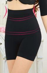 กางเกงในกระชับหน้าท้องแบบขาสั้น มีผ้าคาดช่วยกระชับสัดส่วน